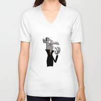 dracula V-neck T-shirts featuring Dracula by The Drawbridge