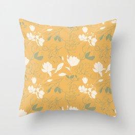 Magnolia flowers Throw Pillow