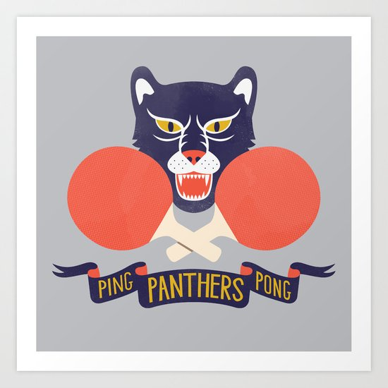 Ping Pong Panthers Art Print