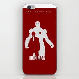 Robert Downey Jr Iron Man Concept Minimalist Design iPhone Skin
