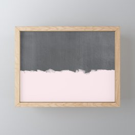 Pink Paint on Concrete Framed Mini Art Print