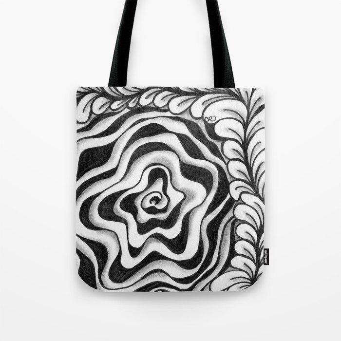 Doodled Rose & Vine Tote Bag