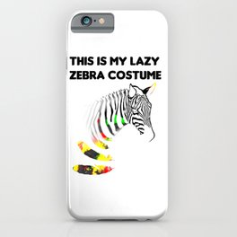 This Is My Lazy Zebracostume1 iPhone Case