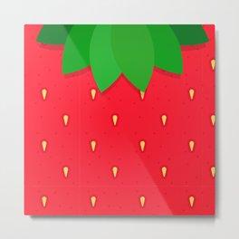 Strawberry strawberries summer fruit pattern Metal Print