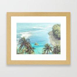 Dreamy Palm Beach Landscape Framed Art Print