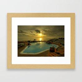 Sunset Pool  Framed Art Print