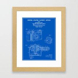 Camera Patent 1938 - Blueprint Framed Art Print