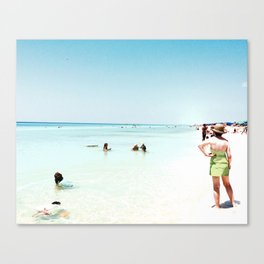 Day at the beach serie #1 Canvas Print
