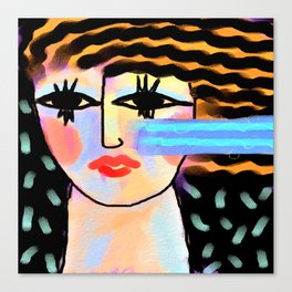Untitled Abstract Portrait of a Woman Canvas Print