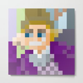 Gene Wilder Pixel Art Metal Print