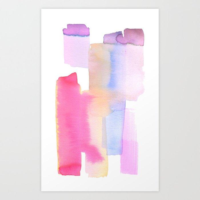 Abstract Lavender Art Print