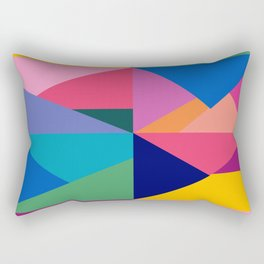 Geometric Color Block Rectangular Pillow