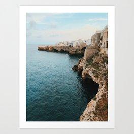 Cliffs of Polignano Art Print