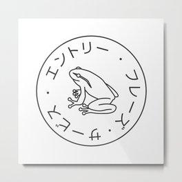 Frog Society Metal Print