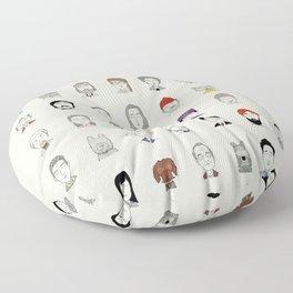 Random People Floor Pillow