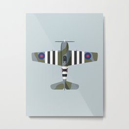 F6F Hellcat WWII Fighter Aircraft - British Metal Print
