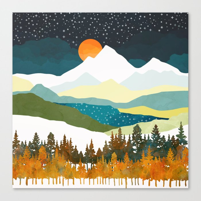 Winters Night Canvas Print