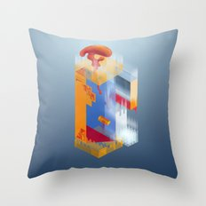 Castle of Impossible Flavors Throw Pillow