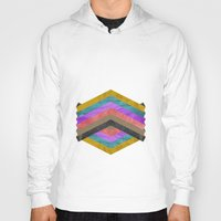 hexagon Hoodies featuring Hexagon by Kaamil Ajmeri