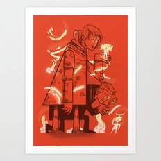 Cross Over Art Print