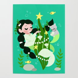 Mermaid Christmas Poster
