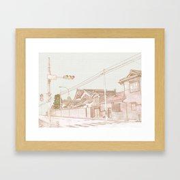 Street in Japan Framed Art Print