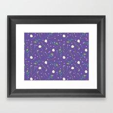Simple flowers and purple Framed Art Print