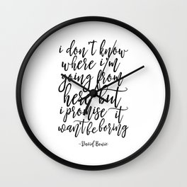 song lyrics,inspirational poster,typography quote,home decor,lyrics,quote prints,wall art Wall Clock