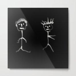couple noir blanc Metal Print