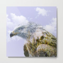 Forest eagle Metal Print