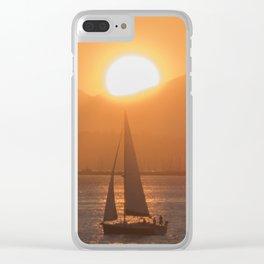 Sail under the Sun Salish Sea Clear iPhone Case