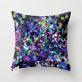 My garden at night 2 Throw Pillow