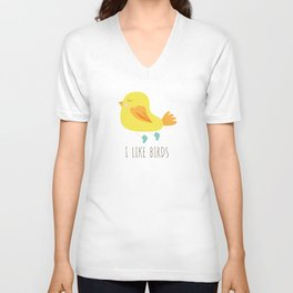 I like birds Unisex V-Neck