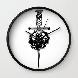 Torn Through Wall Clock