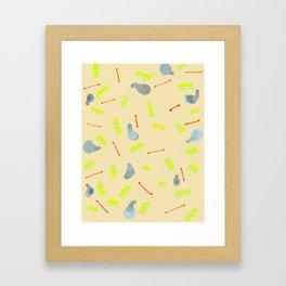 SPRING PATTERNS Framed Art Print