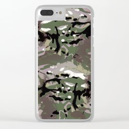 Camo Camo, and the art of disappearing. Clear iPhone Case