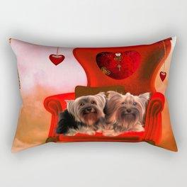 Cute little Yorkshire Terrier Rectangular Pillow