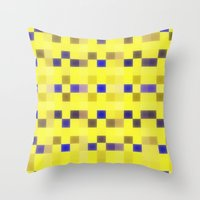 "pixel Throw Pillows featuring ""Pixel"" by Mr & Mrs Quirynen"