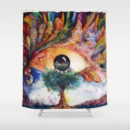 Truth of Consequences Shower Curtain