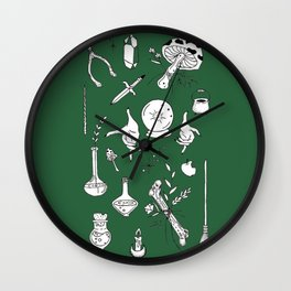 Witchy Themed Illustration — Witch Vibes Designs Wall Clock