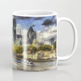 The River Thames And City Art Coffee Mug