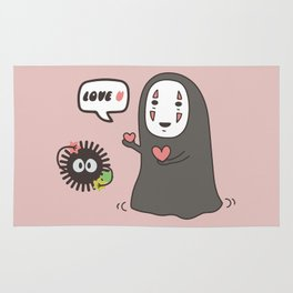 Studio Ghibli No-Face in Love of SootBall Rug