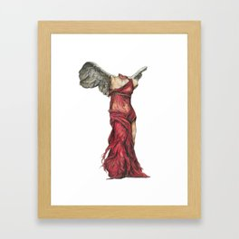 Winged Catastrophe Framed Art Print