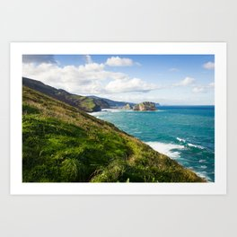 Basque Country coast landscape Art Print