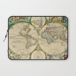 "Frederik de Wit ""Worldmap"" title Nova Orbis Tabula, In Lucem Edita (1670) Laptop Sleeve"