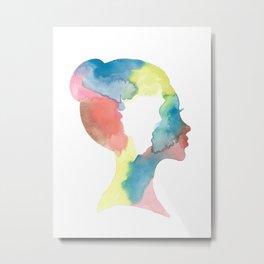 Colorful Updo Metal Print