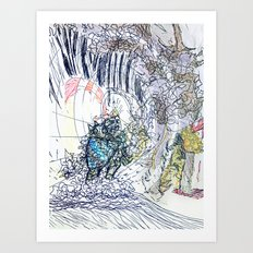 The Knight and The Dragon Art Print