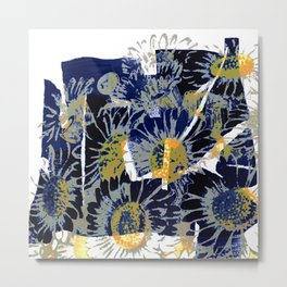 daisies on astract bakground Metal Print