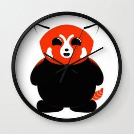 Red Panda Cub Smiling Wall Clock