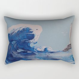 Winter Waves Rectangular Pillow